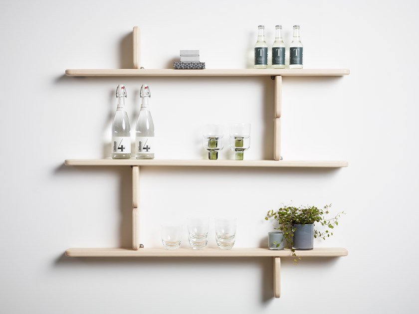 Solid wood wall shelf PART by Karl Andersson