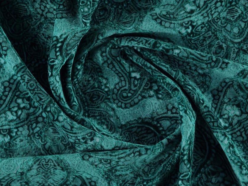 Matt velvet fabric with graphic pattern PASADINA by More Fabrics