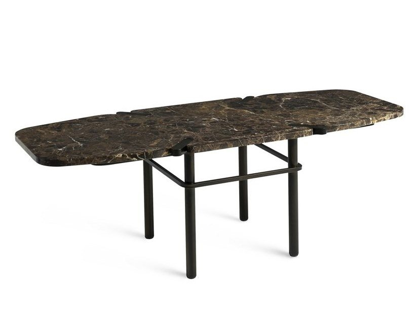 Rectangular marble coffee table PASEO | Rectangular coffee table by ROCHE BOBOIS