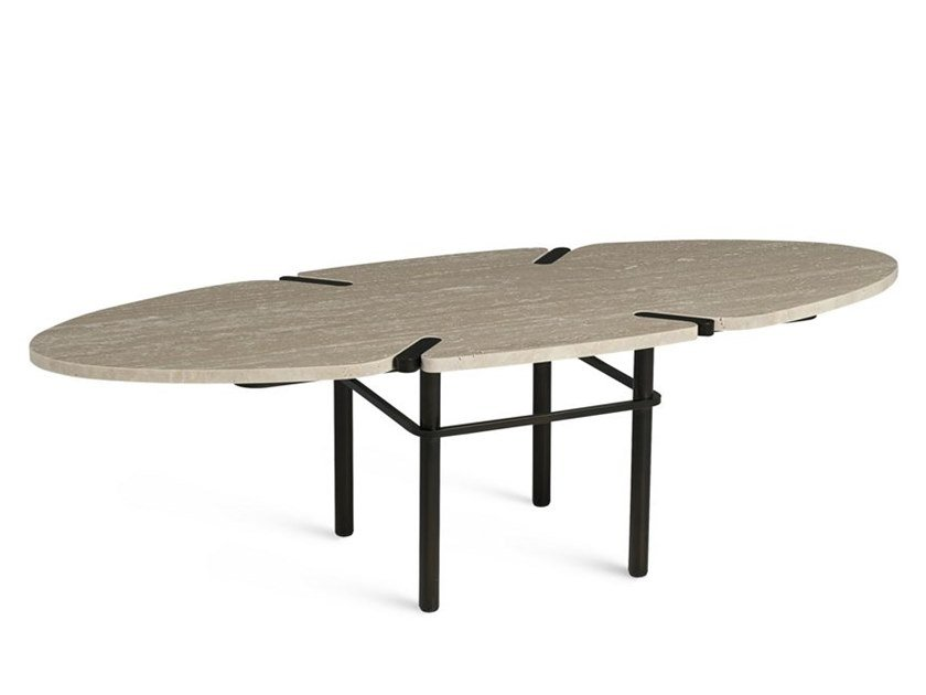 Tavolino ovale in marmo PASEO   Tavolino ovale by ROCHE BOBOIS