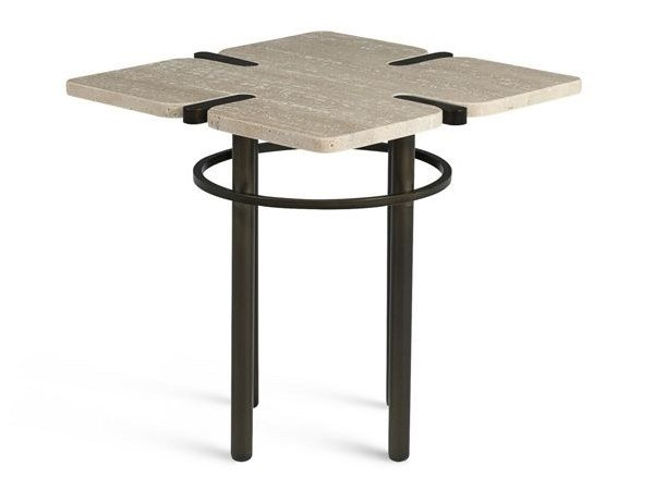 Square marble side table PASEO | Coffee table by ROCHE BOBOIS