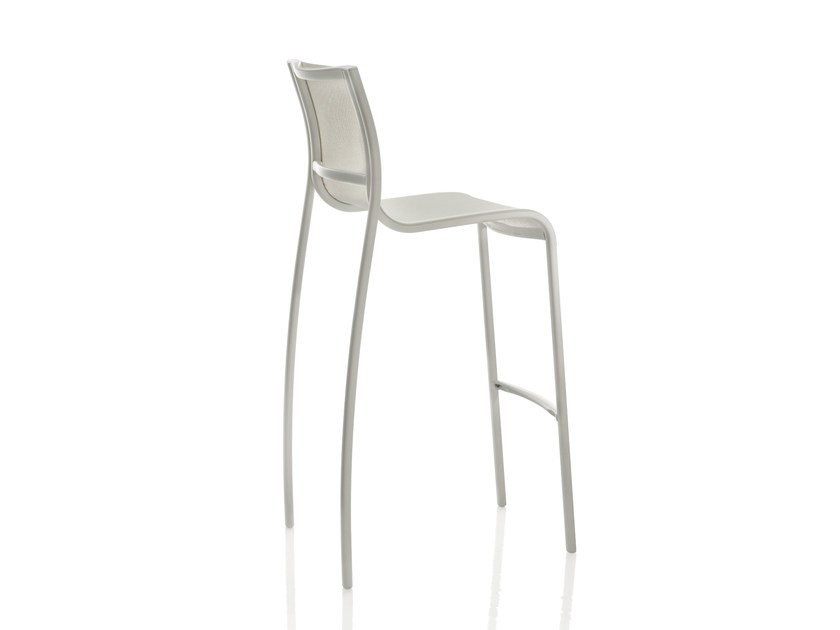 Polyester fibre chair with footrest PASO DOBLE | Chair by Magis
