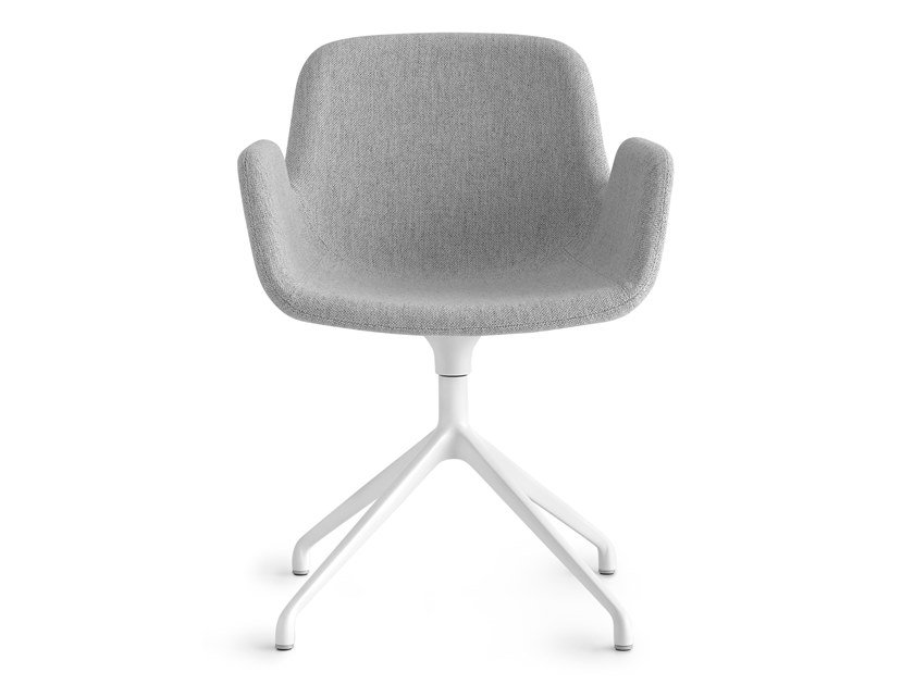 Swivel fabric chair with armrests PASS | Swivel chair by Lapalma