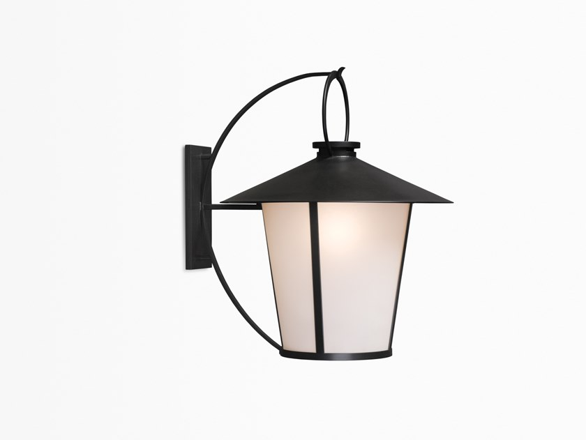 Direct light glass and steel wall light PASSAGE | Wall light by Kevin Reilly Collection