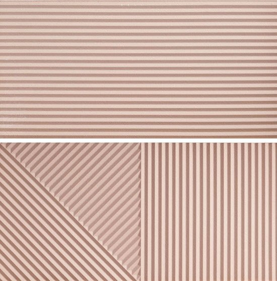 Porcelain stoneware 3D Wall Cladding PASSEPARTOUT PINK #2 by Ceramica Fioranese