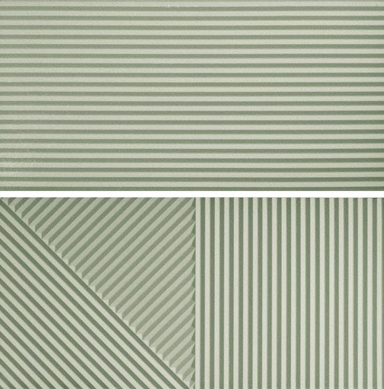 Porcelain stoneware 3D Wall Cladding PASSEPARTOUT NEO MINT #2 by Ceramica Fioranese