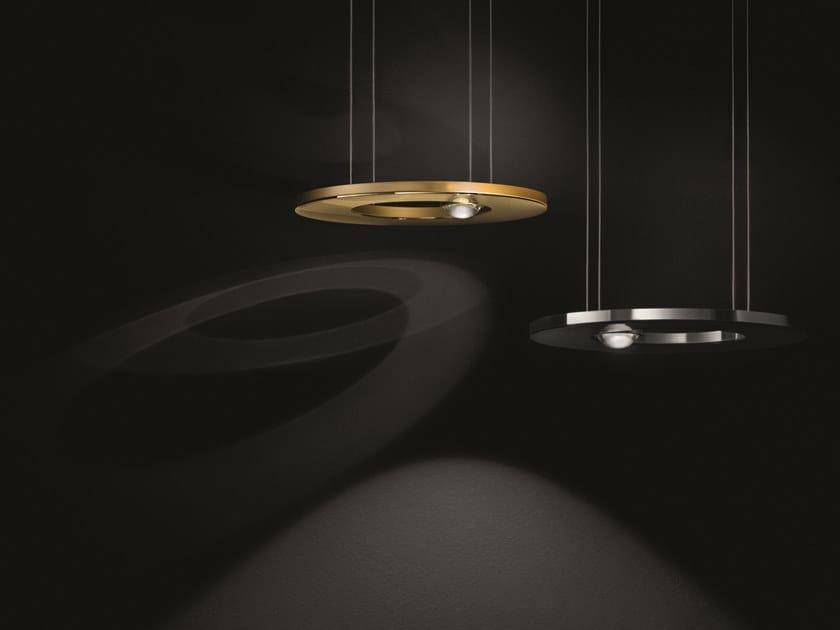 LED direct-indirect light brass pendant lamp PASSEPARTOUT25 SOPRATAVOLO by Cini&Nils