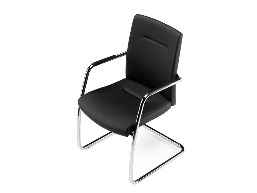 Cantilever stackable training chair with armrests PASSPORT   Cantilever training chair by Arte & D