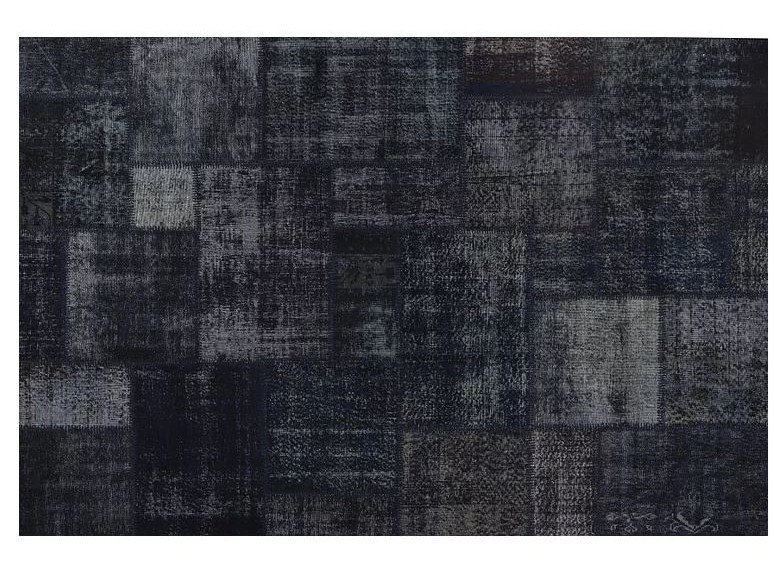 Handmade patchwork rug PATCHWORK NAVY BLUE by Mohebban