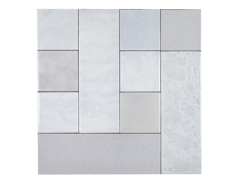 Indoor faïence wall tiles PATCHWORK | PA1 by Danilo Ramazzotti