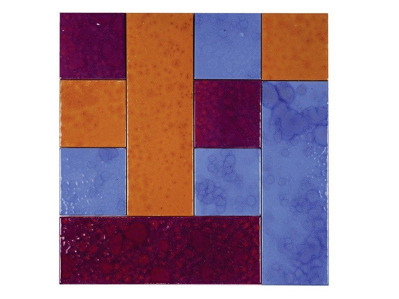 Indoor faïence wall tiles PATCHWORK | PA10 by Danilo Ramazzotti