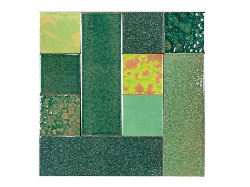 Indoor faïence wall tiles PATCHWORK   PA4 by Danilo Ramazzotti