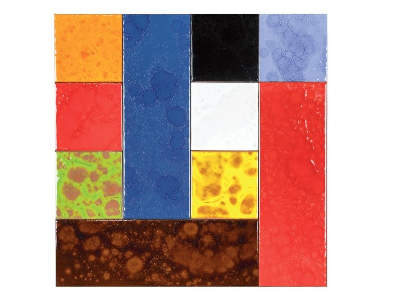 Indoor faïence wall tiles PATCHWORK | PA8 by Danilo Ramazzotti