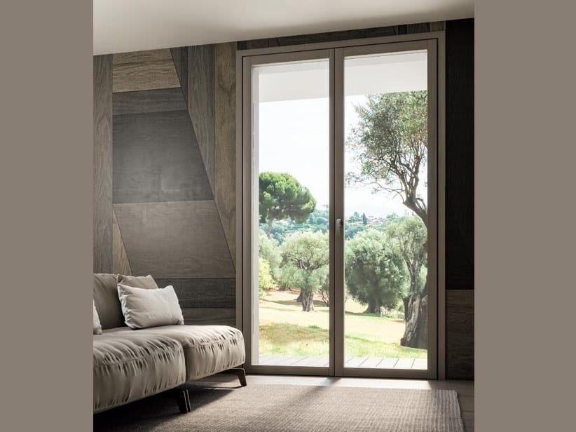 Porta-finestra a battente a taglio termico in alluminio e legno INVISIBLE | Porta-finestra by COCIF