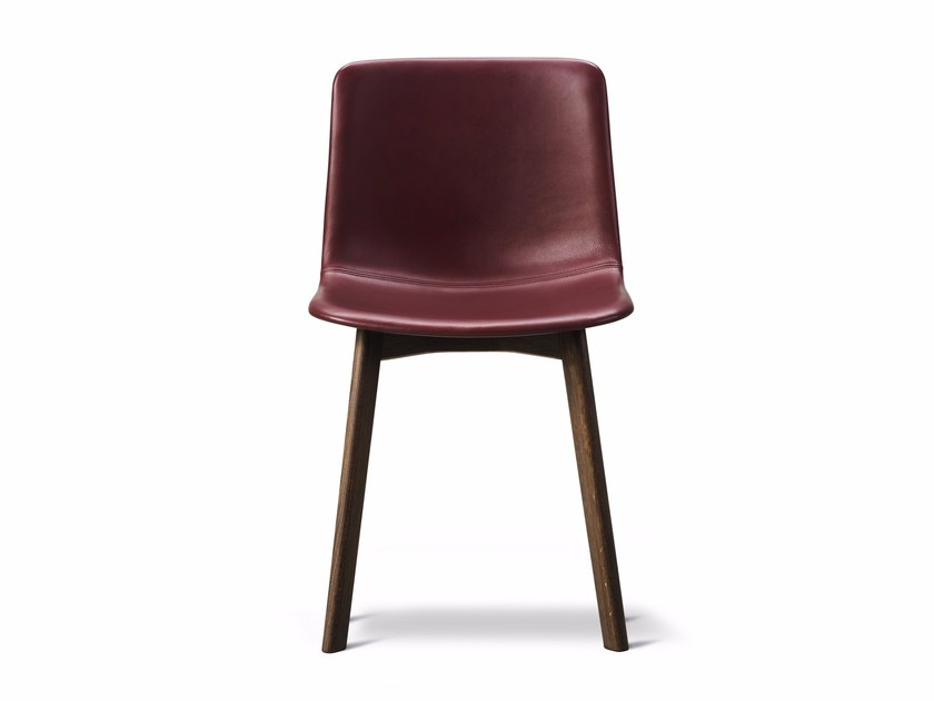 Leather chair PATO WOOD BASE | Leather chair by FREDERICIA FURNITURE