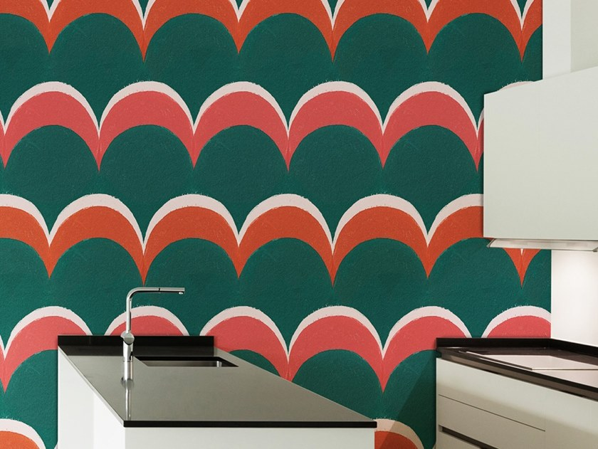 Ecological washable PVC free wallpaper PATTERN POIS by Wallpepper