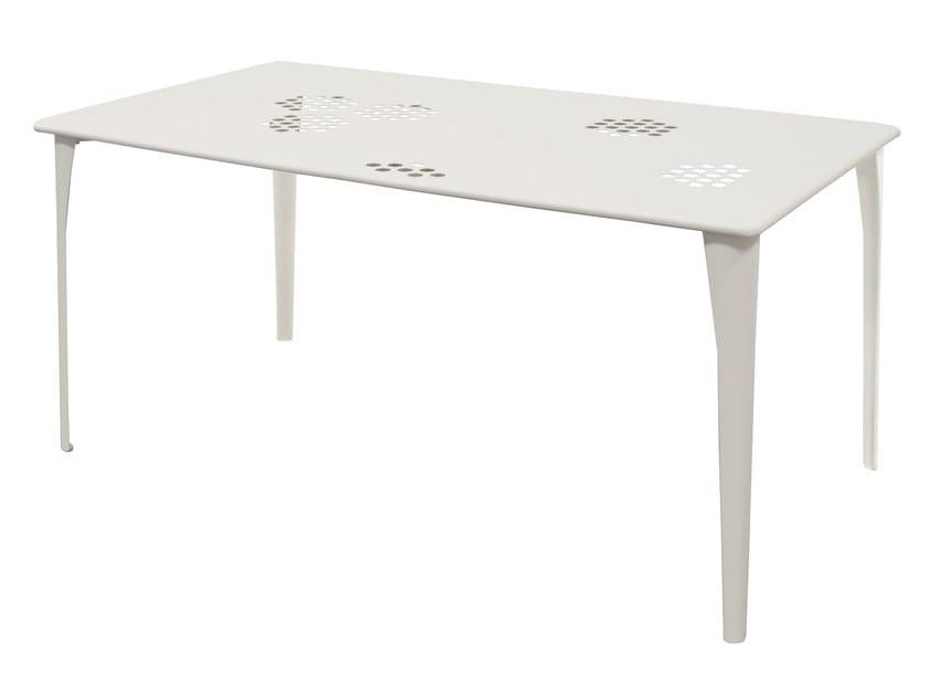 Tavolo da giardino rettangolare in acciaio PATTERN | Tavolo rettangolare by emu
