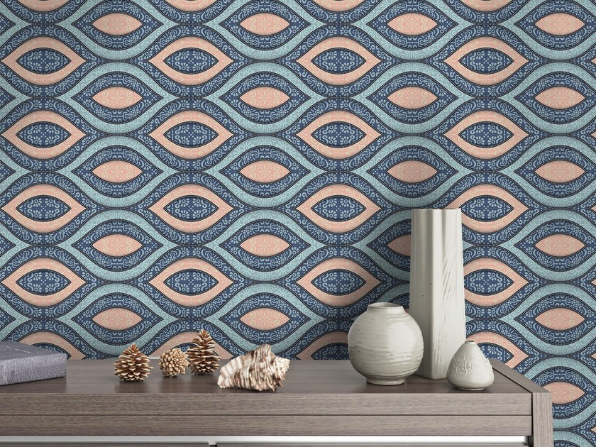 Adhesive geometric washable wallpaper PATTERN by Wall LCA