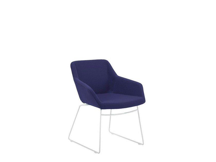 Sled base visitor's chair PAUL | Visitor's chair by Sesta