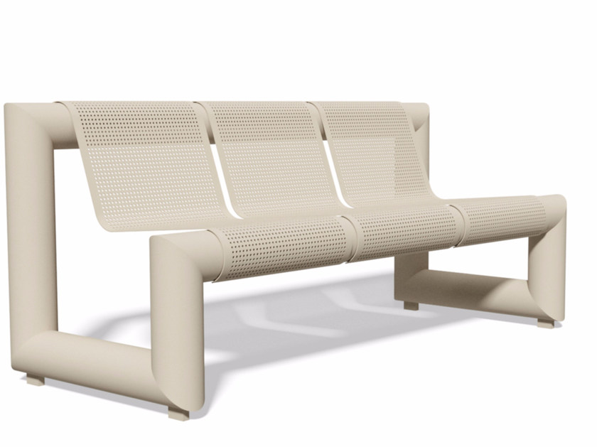Bench with back PAUSA 1810 | Bench with back by BENKERT BÄNKE