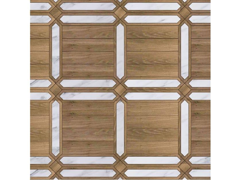 Pavimento/rivestimento intarsiato in legno per interni MODULO SPECIALE MATITA POSA 132 by FOGLIE D'ORO
