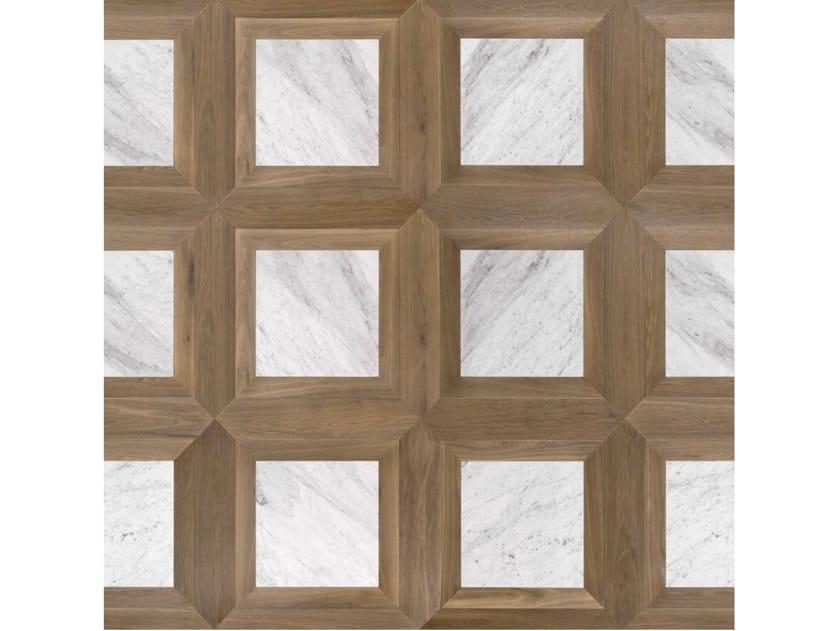 Pavimento/rivestimento intarsiato in legno per interni MODULO SPECIALE MATITA POSA 133 by FOGLIE D'ORO