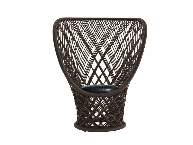 Woven wicker armchair PAVO REAL by Driade