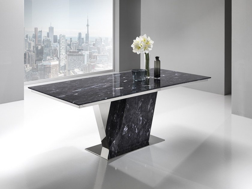 Rectangular Crystal Stone® table PAVO | Rectangular table by Crystal Stone