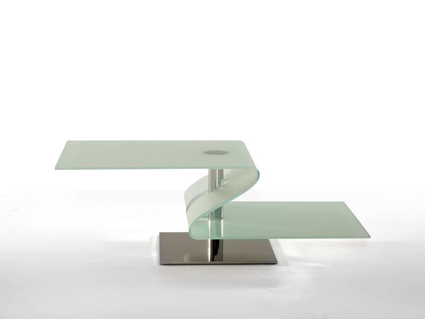 Rectangular glass coffee table PAVONES by Tonin Casa