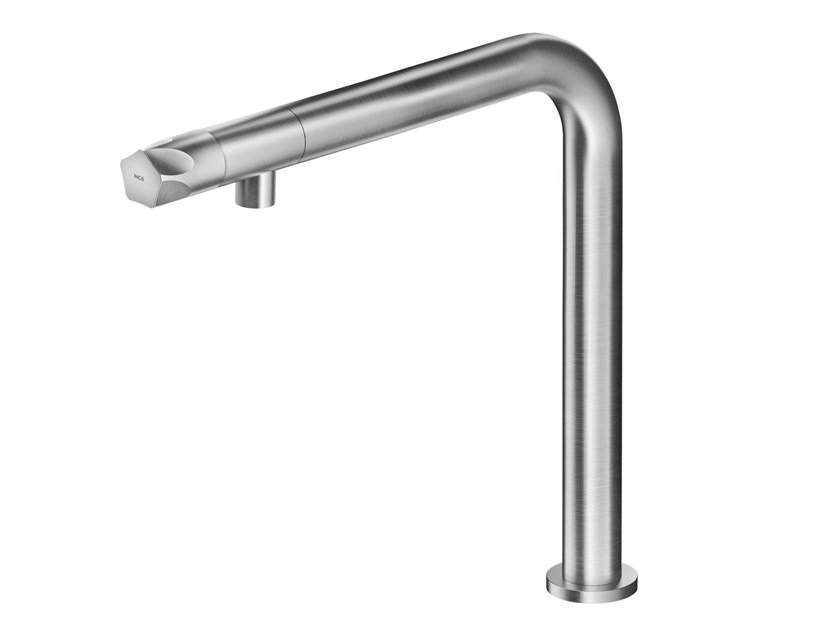 Contemporary style countertop single handle 1 hole stainless steel washbasin mixer PE238 | Washbasin mixer by MGS