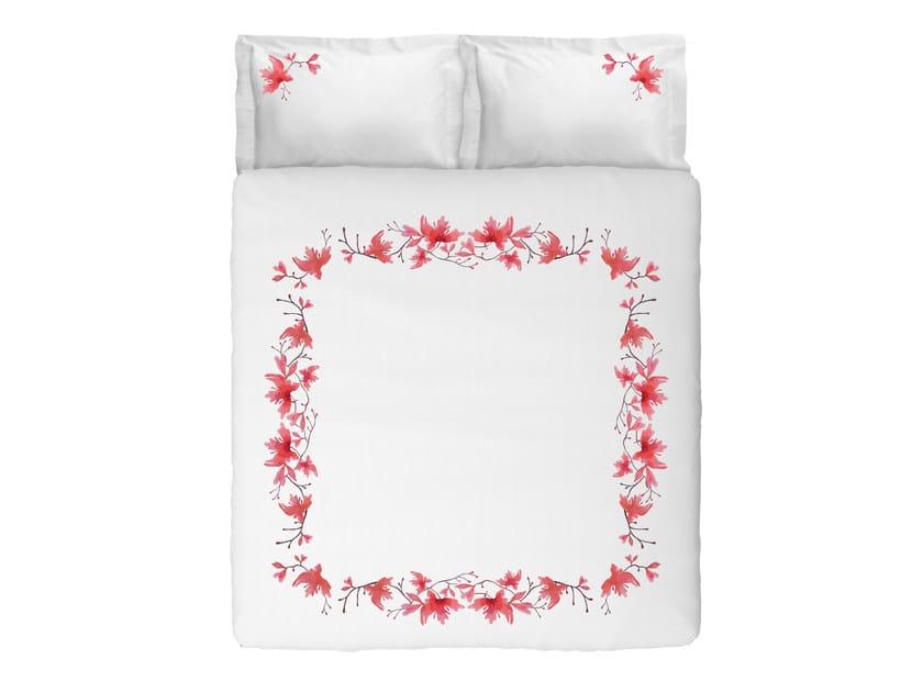 Coordinato letto in cotone con motivi floreali PEACH BLOSSOM KING SET | Coordinato letto in cotone by Sans Tabù
