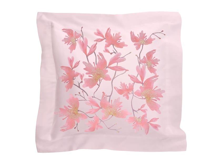 Cuscino in raso con motivi floreali PEACH BLOSSOM   Cuscino in raso by Sans Tabù