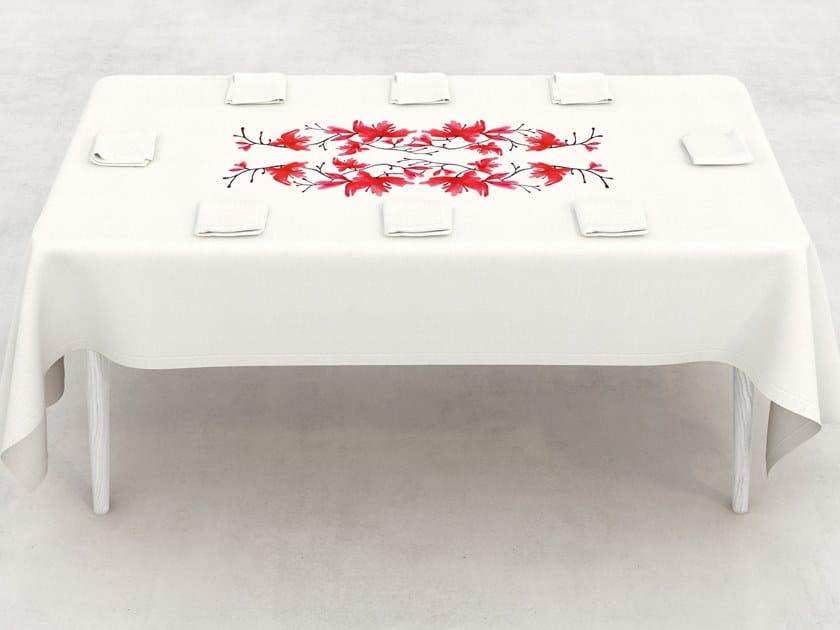 Linen Tablecloth PEACH BLOSSOM | Tablecloth By Sans Tabù
