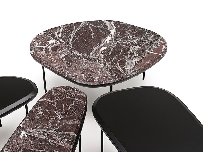 Low marble coffee table PEBBLE LOW TABLE by Living Divani