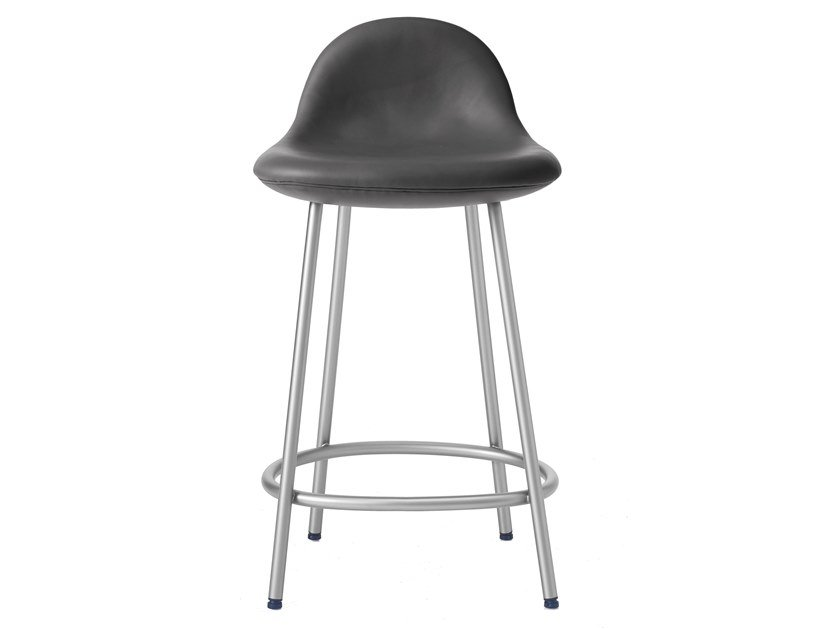 Upholstered counter stool PEBBLE   Padded Counter Stool by BassamFellows