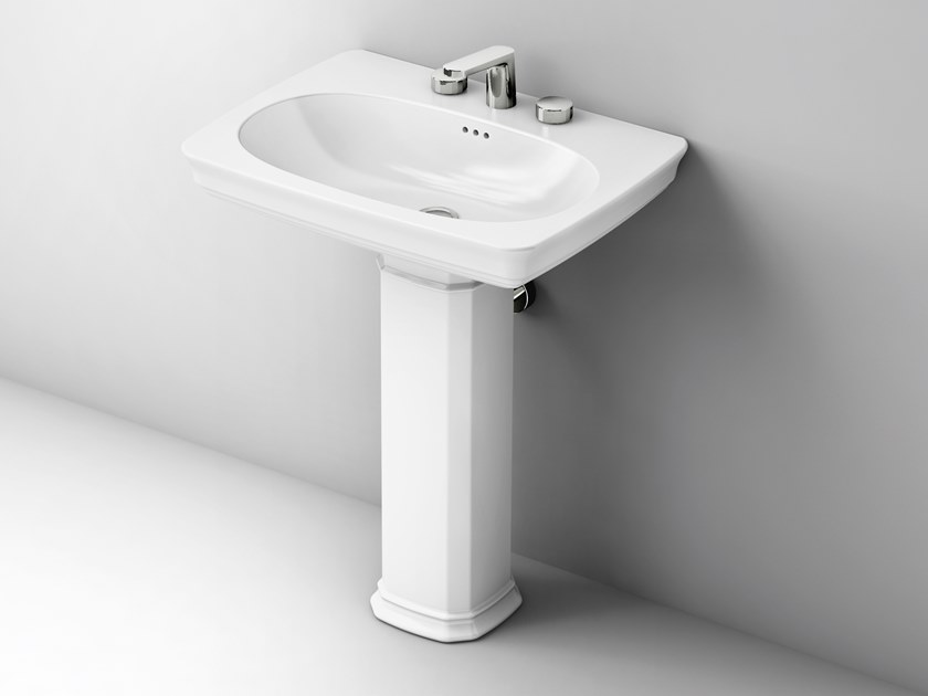 Pedestal ceramic washbasin CIVITAS | Pedestal washbasin by Artceram