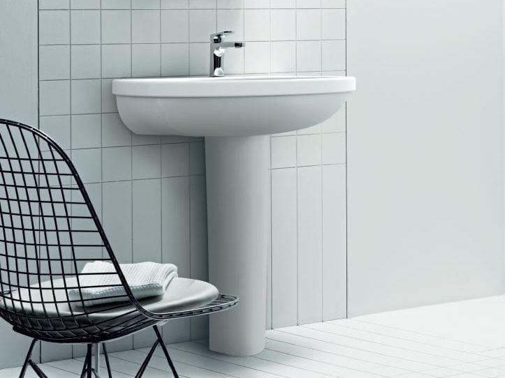 Pedestal ceramic washbasin CULT | Pedestal washbasin by AZZURRA sanitari
