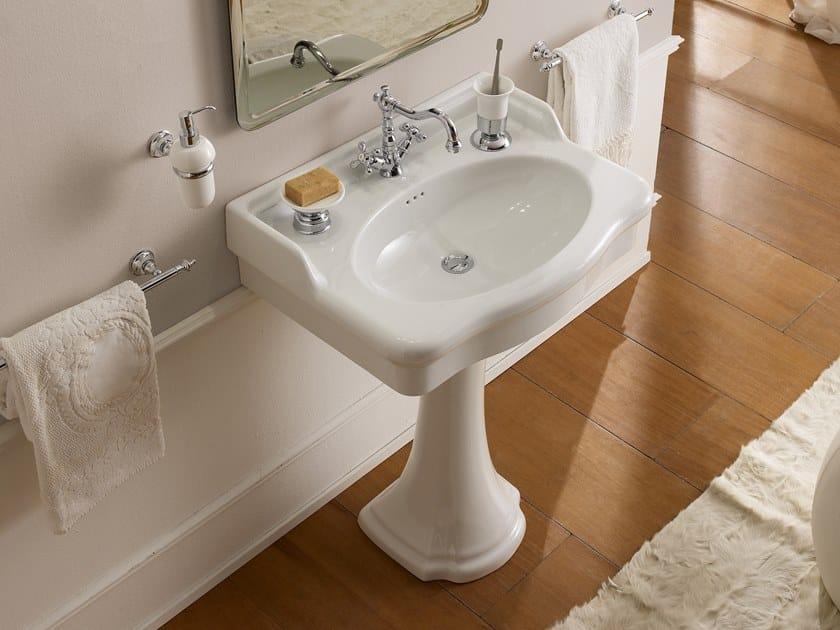Single pedestal ceramic washbasin CASTELLANA | Pedestal washbasin by Scarabeo Ceramiche