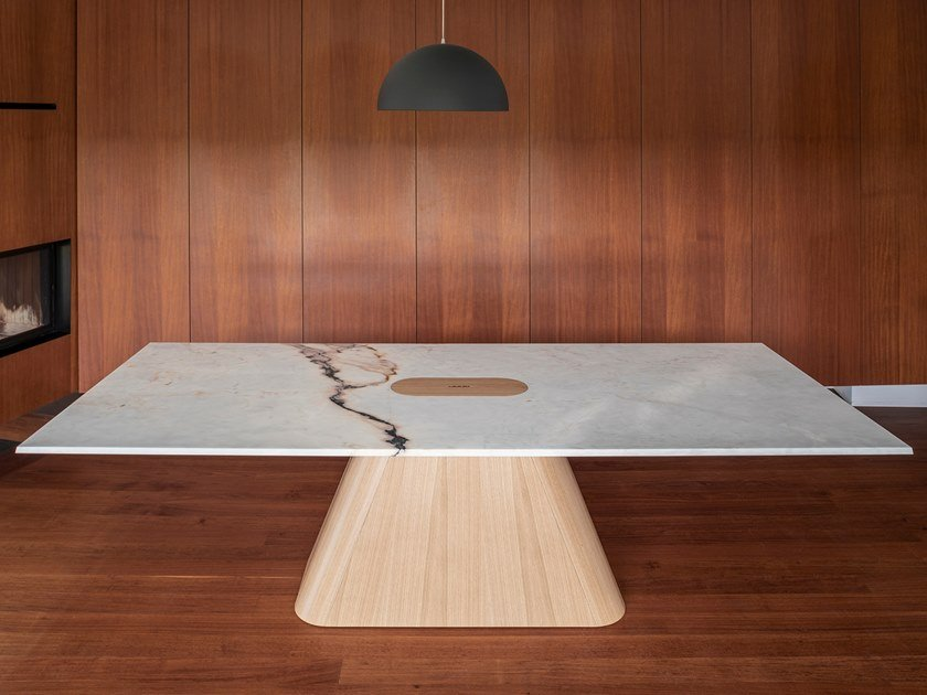 Rectangular marble table PEDRA | Marble table by WUDA