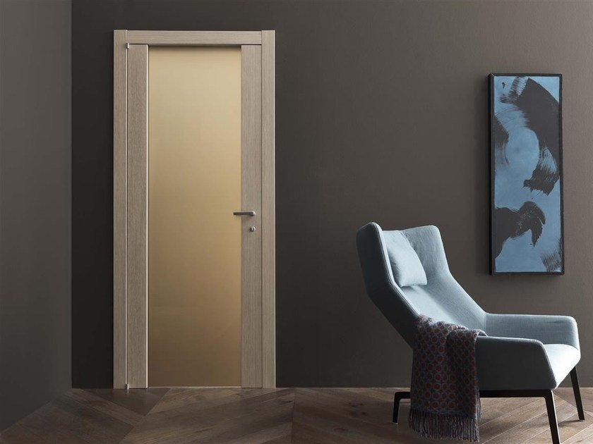 Hinged wood and glass door PEGASO by Door 2000