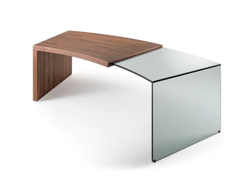Escritorio en madera y vidrio PEGASO by Reflex