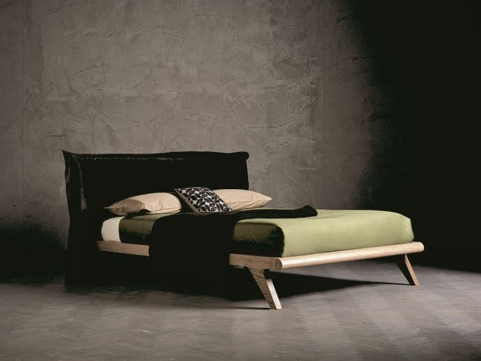 Solid wood double bed with upholstered headboard PEGASO RING 1 by AltaCorte