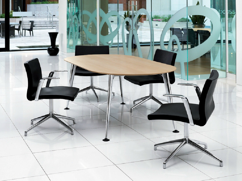 Oval melamine meeting table PEGASUS | Oval meeting table by Boss Design