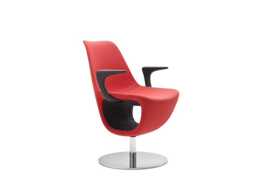 Swivel easy chair with armrests with storage space PELIKAN 10R by profim