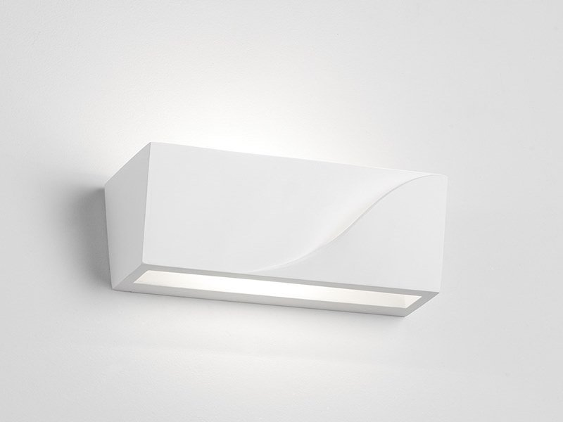 Direct-indirect light gypsum wall light PELLENE by Sforzin