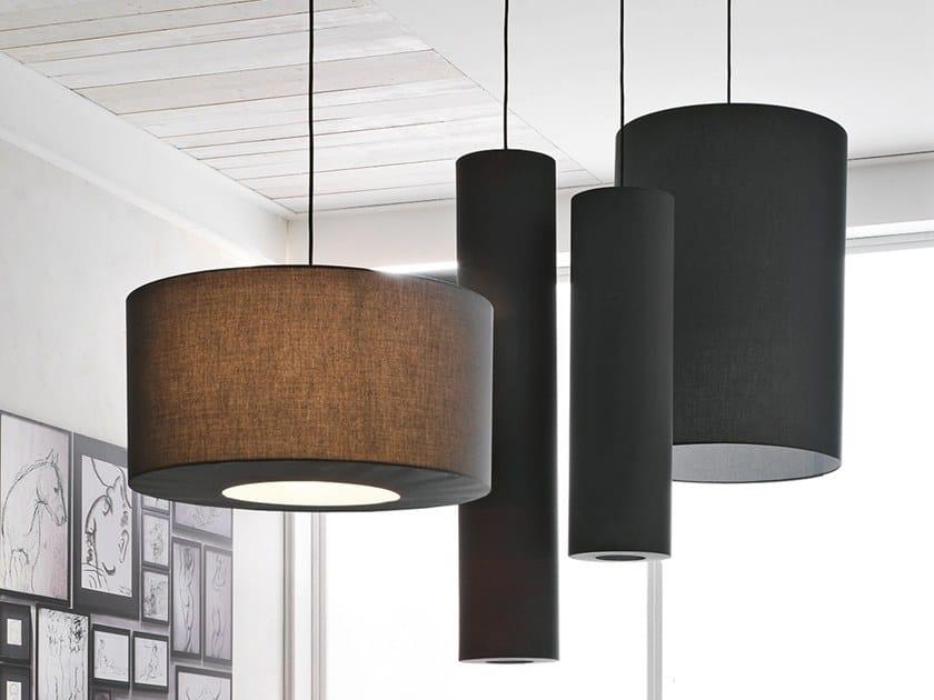 Fabric pendant lamp CILINDRO | Pendant lamp by Adriani e Rossi edizioni
