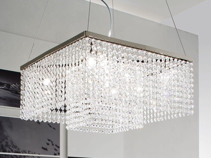 Pendant lamp with crystals KRISTAL | Pendant lamp by Adriani e Rossi edizioni
