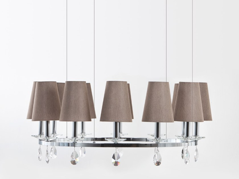 Pendant lamp with crystals OTTAGONO | Pendant lamp by Aiardini