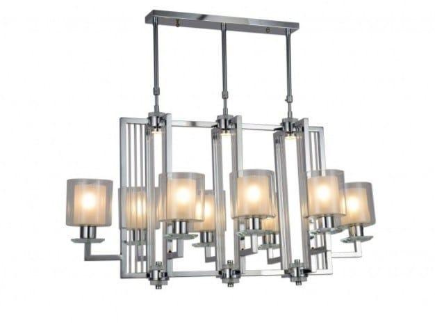 Lampada a sospensione a LED a luce indiretta in metallo MANHATTAN | Lampada a sospensione by Arrediorg.it®