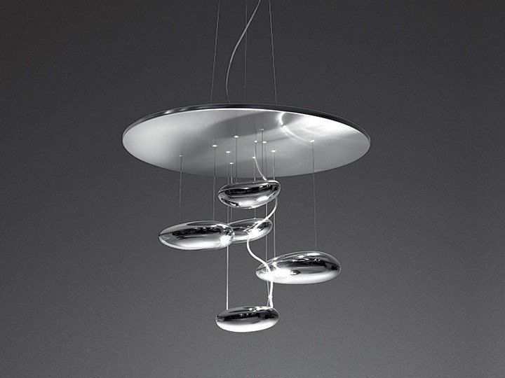 Indirect light stainless steel pendant lamp MERCURY MINI | Pendant lamp by Artemide